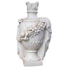 Italian White Marble Garden Urn