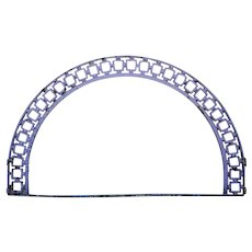 English Victorian Blue Painted Cast Iron Architectural Arch