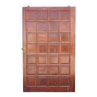 Vintage Argentine Solid Mahogany Paneled Single Sliding Door