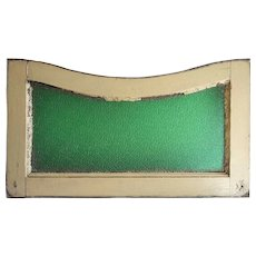 Argentine Painted Mahogany Textured Green Glass Transom Window