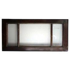 Argentine Mahogany and Beveled Glass Rectangular Transom Window
