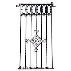 Argentine Hand Forged Iron Window Grille Panel (Reja)