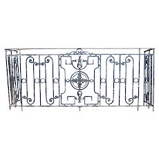 French Louis XVI Revival Wrought Iron Balcony