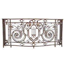 French Beaux Arts Wrought Iron Balcony