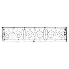 Large French Beaux Arts Wrought Iron Balcony