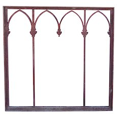 American Gothic Revival Wrought Iron Window Grille Frame (4 Available)