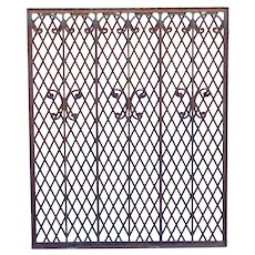 American Mountain States Telephone Building Wrought Iron Grille Panel