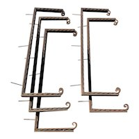 Set of Five American Gothic Revival Wrought Iron Brackets