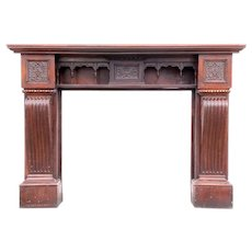English Victorian Rosewood Fireplace Mantel Surround