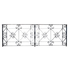 American Beaux Arts Acacia Hotel Wrought Iron Balcony Front Railing