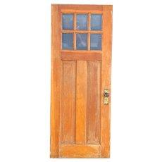 American Bungalow / Craftsman Pine and Six-Panel Glass Single Door