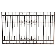 American Denver Blacksmith Made Iron Panel Architectural Cashier Cage