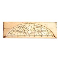 American Victorian Stained, Leaded and Bevelled Glass Arched Window
