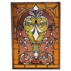American Denver Stained and Jeweled Leaded Glass Window