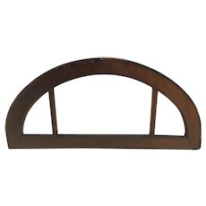 Argentine Mahogany and Beveled Glass Arched Window/ Door Architectural Transom