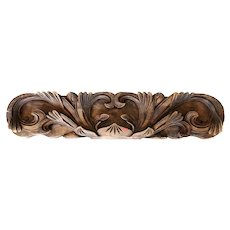 Chinese Carved Wood Architectural Scroll Carving