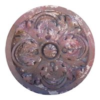 American Victorian Red Terracotta Architectural Rondel