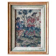 Flemish/French Baroque Framed Tapestry Panel of a Hunting Scene