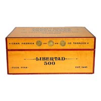 Cuban Rosewood Trimmed Maple and Silver Libertad (Coin) Cigar Humidor Box