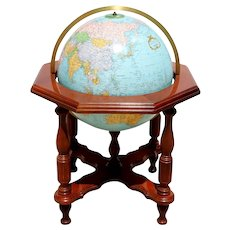 American Replogle Statesman Illuminated Heirloom Hardwood Floor Standing Globe