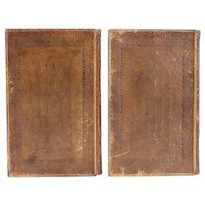 Two Volume Leather Books: Hudibras, A Poem by Samuel Butler