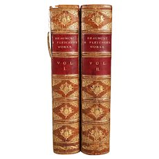 First Edition Set of Two Books: The Works of Beaumont and Fletcher by George Darley