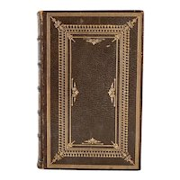 Leather Book: Routledge's British Poets, The Poetical Works of Leigh Hunt