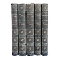 Set of Five Leather Books: Works by Jane Austen
