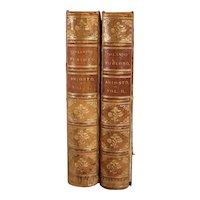 Set of Two Leather Books: The Orlando Furioso by Ludovico Ariosto