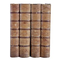 Set of Four Leather Books: The Poetical Works of John Keats