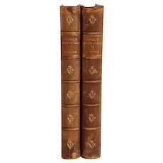 Set of Two Leather Books: The French Revolution, A History by Thomas Carlyle