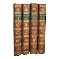 Set of Four Leather Books: Lord Chesterfield's Letters by Eugenia Stanhope