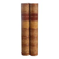 Set of Two Leather Books: Ben-Hur, A Tale of the Christ by Lewis Wallace