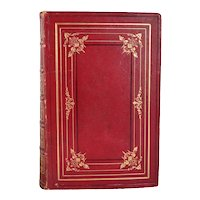 Leather Book: The Poetical Works of Lord Byron Ex Libris James Cleland