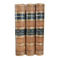 Set of Three Books: The Complete Works of William Shakespeare by Barry Cornwall