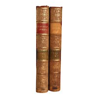 Set of Two Leather Books: The Scottish Chiefs by Miss Jane Porter