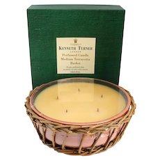 English Kenneth Turner Perfumed Medium Terracotta Basket Five-Wick Candle