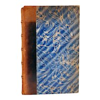 French Leather Book: Grandeurs et Misères d'une Victoire by Georges Clemenceau