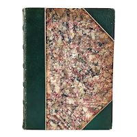Leather Book: Poems by William Cullen Bryant Ex Libris Edward Stanhope
