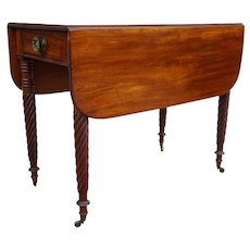 American Sheraton Mahogany Drop-Leaf Table