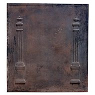 French Louis XVI Cast Iron Fireplace Fireback