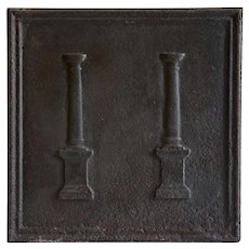 French Louis XVI Cast Iron Fireplace Fireback