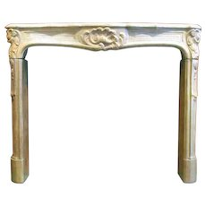 French Louis XVI Bourguignon Stone Fireplace Surround
