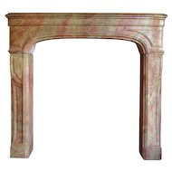 French Louis XIV Period Bourguignon Stone Fireplace Surround