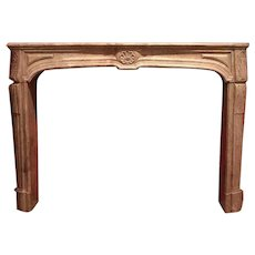 French Louis XIV Bourguignon Stone Fireplace Surround