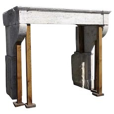Large French Louis XIII Cantilevered Stone Fireplace Surround