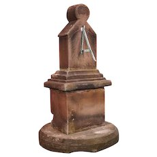 Scottish Yorkstone Vertical Sundial Pedestal