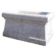 French Art Nouveau Stone Garden Planter