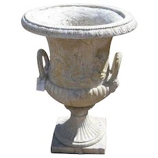 Vintage Pair of Large  French Composition Stone Garden Urns