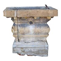 Large Rare French Village Limestone Covered Fountain Well Head